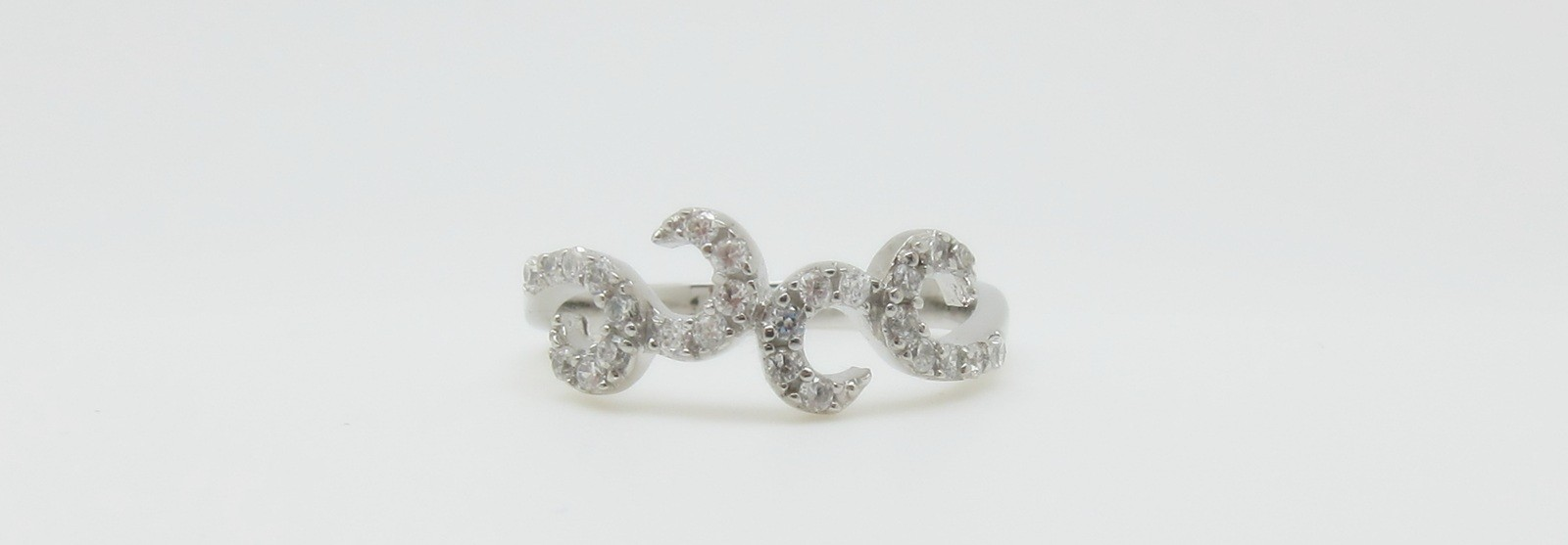 Conjunto pendientes colgante anillo pave picos plata
