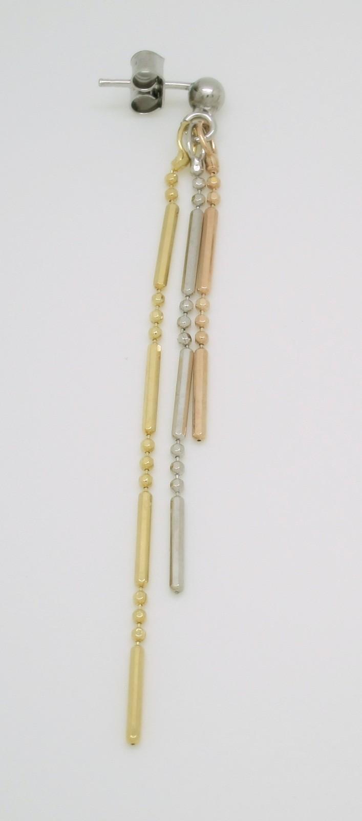 Pendientes cadena bola tallada plata
