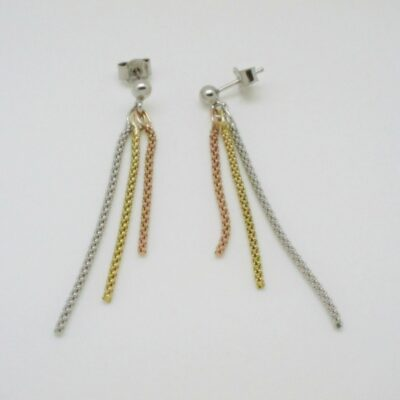 Pendientes barra lisa brillo plata