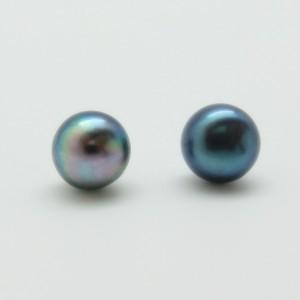 Pendientes perla gris