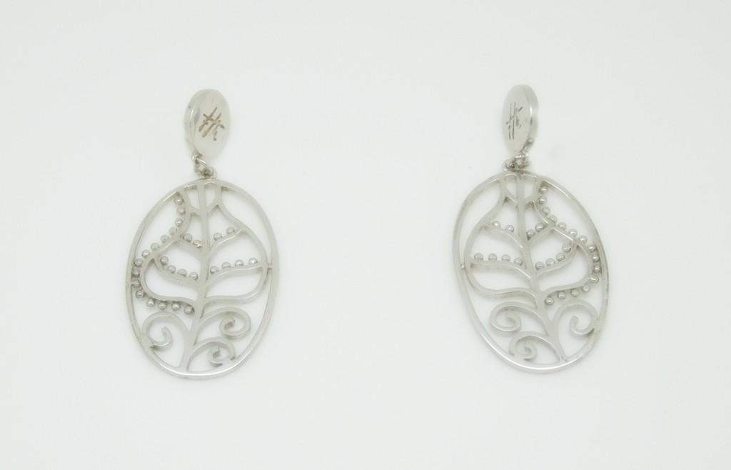 Pendientes colgantes plata francis montesinos