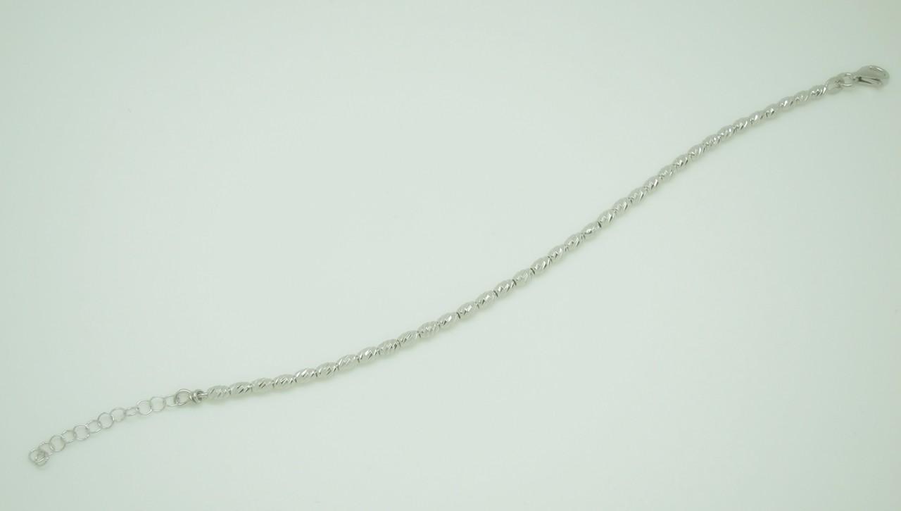 Pulsera ovales tallados plata