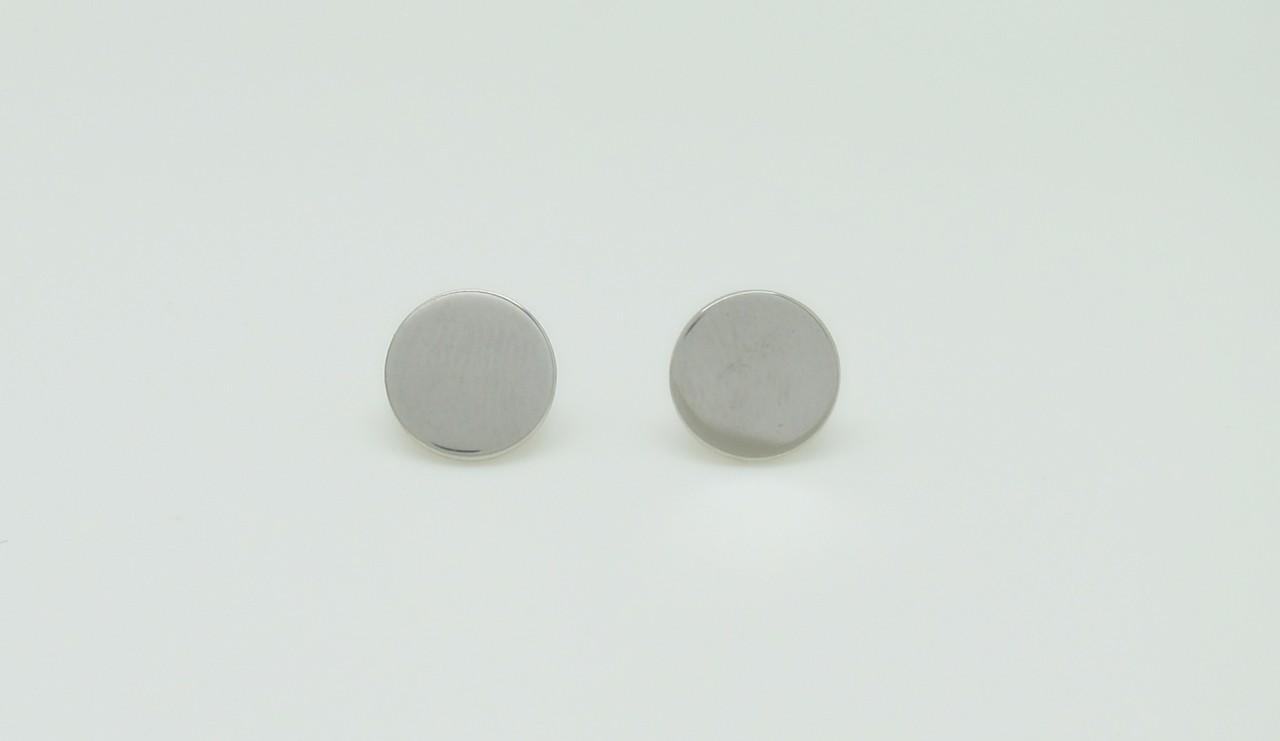 Pendientes lisos redondos plata