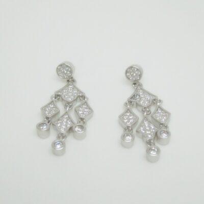 Pendientes colgantes estilo plata