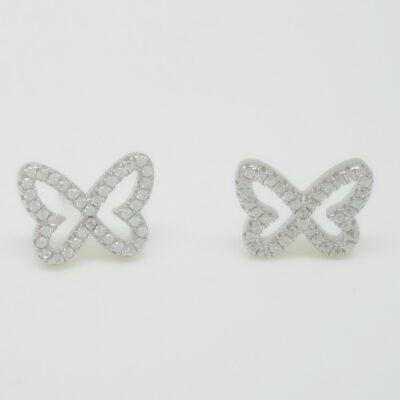 Pendientes mariposa pave plata