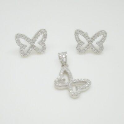Conjunto mariposa pave plata
